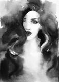 beautiful woman. fashion illustration. watercolor painting - 232269582