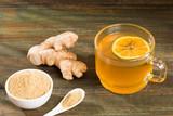 Healthy drink of ginger, lemon and honey - Zingiber officinale