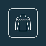 Knitwear icon line symbol. Premium quality isolated sweater element in trendy style. - 232272552