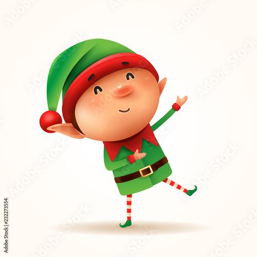 Mały elf wita. Odosobniony.