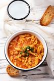 Traditional italian dish «pasta e ceci» - 232279993