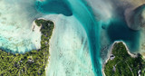 island of a lagoon in aerial view, French Polynesia - 232281187