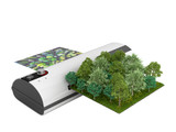 Modern high resolution wide format printing concept The real forest is transformed into an image passing through the printer 3d render on white no shadow - 232282717