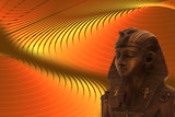 pharaoh on the abstract yellow background