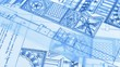 blueprints - drawings of antique architecture - drawings of antique decorative elements of architectural orders
