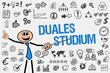 Duales Studium / Mann mit Symbole