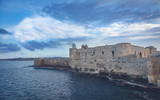 Wonderful evening view of famous Castello Maniace in Siracusa, Italy - 232297302