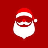 Abstract Christmas Card Santa Red/White - 232308305