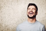 Facial Expressions of handsome man isolated on  background - 232320769