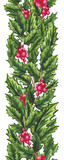 Seamless Border of Holly and Red Berry - 232329965