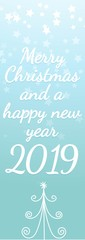 Merry Christmas and a happy new year 2019  © VRD