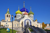 The Transfiguration Church in Peredelkino is located on the territory of the residence of the Patriarch of Moscow. The first information about the temple dates back to 1646. Russia, Moscow, Oct. 2018 - 232332707