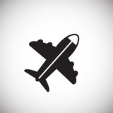 Plane on white background icon - 232336754