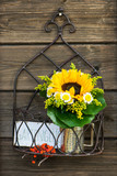 Little flower bouquet in a garden