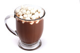 Mug of Hot Chocolate Isolated on a White Background - 232339961