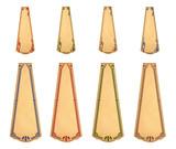 Apothec tags with art nouveau pattern. - 232341750