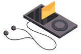 Music player isometric - 232342788