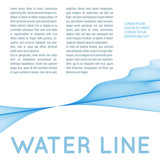 Abstract layout with ripple water line. Raster graphic template - 232355748