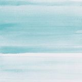 Light blue watercolor texture background, hand painted. - 232360913