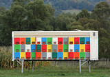 Colorful hives near the forest - 232360929