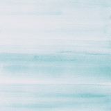 Light blue watercolor texture background, hand painted. - 232361189