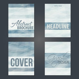 Set of cover layouts with gray stripes - 232361991