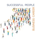 crowd of successful people. vector illustration - 232362166