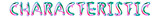 Characteristic - colorful text written on white background - 232362789