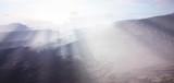 Abstract mountain range under bright sunlight - 232363713