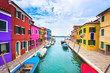 island of burano with colorful houses