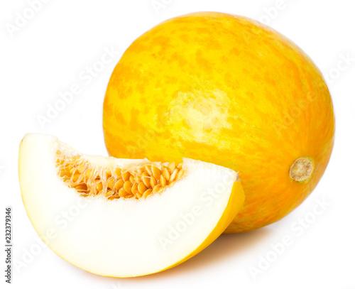 Leinwandbild Motiv Fresh melon on white background