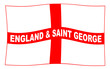 Waving Flag of England and Saint George