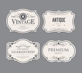 Set of vintage label design. - 232386582