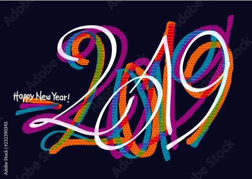 2019 graffiti colorful design