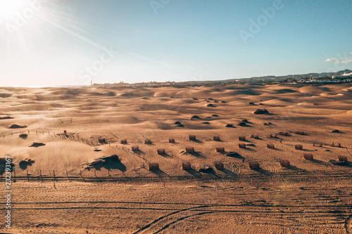 Aerial Maspalomas dunes view on Gran Canaria island near famous RIU hotel. - 232393167