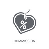 Commission icon. Trendy Commission logo concept on white background from Startup Strategy and Success collection - 232399946