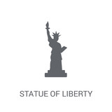 Statue of liberty icon. Trendy Statue of liberty logo concept on white background from United States of America collection © BestVectorStock