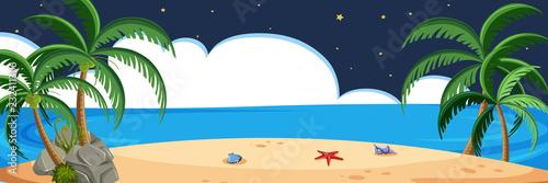 Scena plażowa w nocy