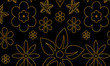 seamless floral pattern with golden paisley flowers - 232411556