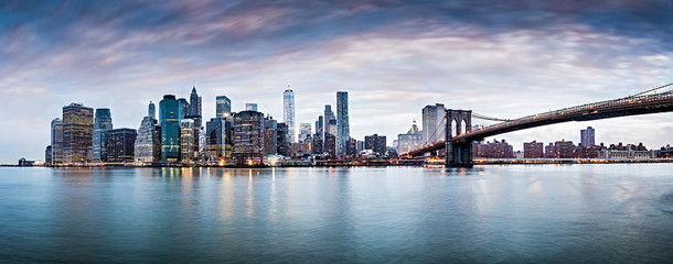 New York city sunset panorama ,cityscape. © Studio13lights