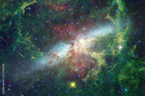 Glowing galaxy, awesome science fiction wallpaper.
