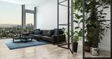 modern interior of a living room - 232427140