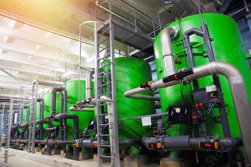 zbiorniki do uzdatniania wody w elektrowni