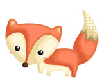 a vector of a cute fox with pattern - 232427723