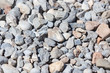 Gravel construction worker as abstract background