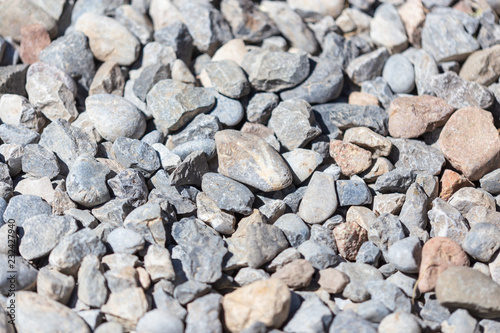 Gravel construction worker as abstract background - 232427940