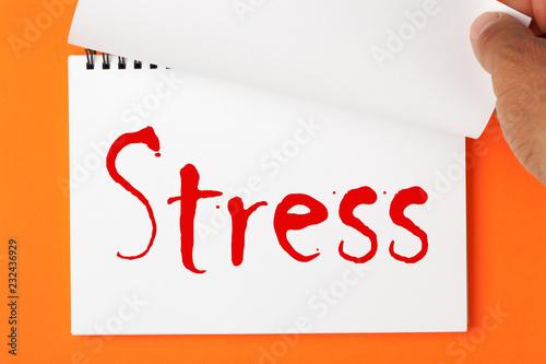 Leinwanddruck Bild  What Is Stress