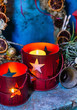 Christmas candles with stars