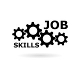 Black Job Skills sign or logo  - 232441963