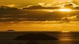 Cinematic sunset in northern Norway. The Lofoten archipelago - 232449715